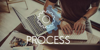 Process Word Settings Icon Simple Concept Stock Images