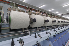 Process of yarn spinning Stock Image