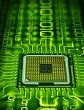 Processador binário Fotografia de Stock Royalty Free