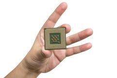 Processador central à disposição Fotografia de Stock