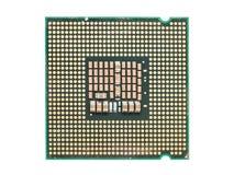 Processador central Chip Isolated do computador Fotografia de Stock Royalty Free
