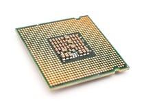 Processador central Chip Isolated do computador Fotografia de Stock