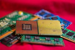 Processador central com memória Foto de Stock