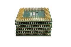 Processador central da unidade do processador central isolado no fundo branco Fotos de Stock