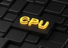 Processador central da unidade do processador central Imagens de Stock Royalty Free
