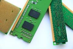 Processador central do computador e RAM foto de stock