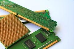 Processador central do computador e RAM imagens de stock