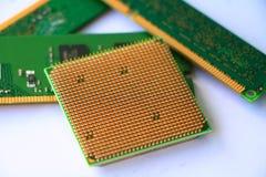 Processador central do computador e RAM fotos de stock