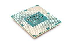 Processador central do computador isolado no branco Imagens de Stock