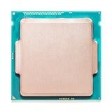 Processador central do computador isolado no branco Fotos de Stock Royalty Free