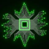 Processador central microprocessador microchip Placa de circuito Imagens de Stock Royalty Free