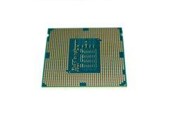 Processador central moderno do computador do processador central de 22 nanômetro fotos de stock royalty free