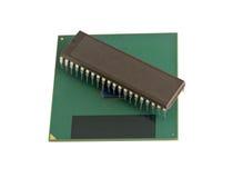Processador central moderno e velho Imagens de Stock