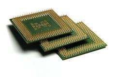Processador central na pilha Fotografia de Stock