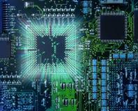 Processador central poderoso do computador Imagens de Stock