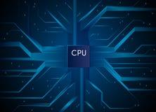 Processador central tecnologia da Olá!-tecnologia Elementos da tecnologia de comunicação da informação Ilustração do vetor ilustração stock