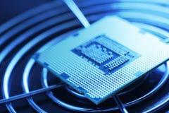 Processador da tecnologia nova imagem de stock