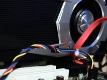 Processador de gráficos no cartão-matriz Fotos de Stock Royalty Free
