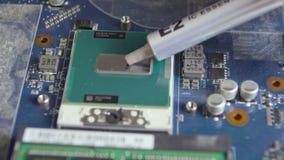 Processador de lubrificação com graxa térmica video estoque