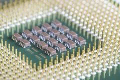 Processador do micro do computador Imagens de Stock