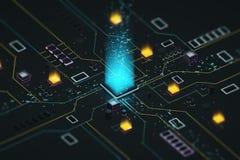 Processador e dados Fotografia de Stock