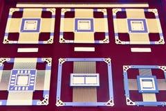 Processador eletrônico das microplaquetas imagens de stock