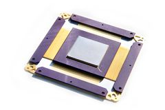 Processador eletrônico isolado fotografia de stock