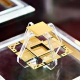 Processador eletrônico protegido radiação na exposição imagem de stock royalty free