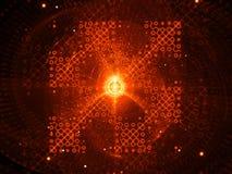 Processador futurista impetuosamente de incandescência do quantum ilustração do vetor