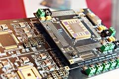 Processador na placa eletrônica fotos de stock royalty free
