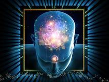 Processamento da mente ilustração royalty free