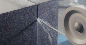 Processamento de mármore do granito na fabricação vídeos de arquivo