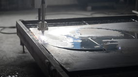 Processamento industrial do corte do plasma do laser video estoque