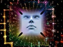 Processando o ser humano super AI Imagens de Stock Royalty Free