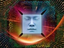 Processando o ser humano super AI Fotografia de Stock Royalty Free