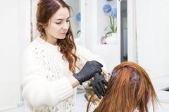 Processar som färgar hår Royaltyfria Bilder