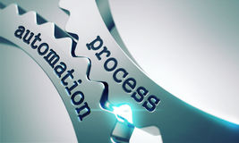 Processautomation på kugghjulen Arkivfoton