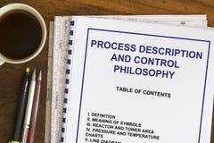 Processbeskrivning och kontrollfilosofi Royaltyfria Foton