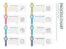 Processdiagram stock illustrationer