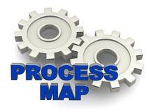 Processe o mapa ilustração royalty free