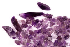 Processed amethyst. Royalty Free Stock Photos
