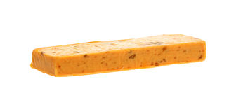 Processed Cheddar and Salami Cheese Block Royalty Free Stock Photos