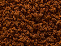 Processed coffee granules. Close up of processed coffee granules food background royalty free stock photos