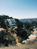 Hollywood hills stock images