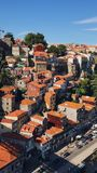 Incredible view . old town. porto city stock photography