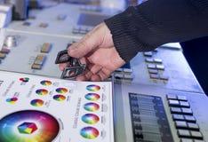 Processen av korrigeringen för offset- printing och färg Royaltyfri Bild