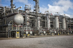 Processenhet och utrustning för raffinaderi eller för kemisk växt Arkivfoto