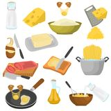 Processes of cooking color icons set for web and mobile design Royalty Free Stock Photos