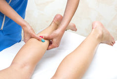 Processes foot massage Royalty Free Stock Image