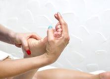 Processes foot massage Stock Photo